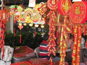 Chinese Lunar New Year decoration items