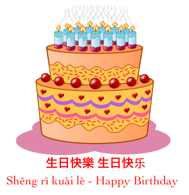 how to say happy birthday in chinese