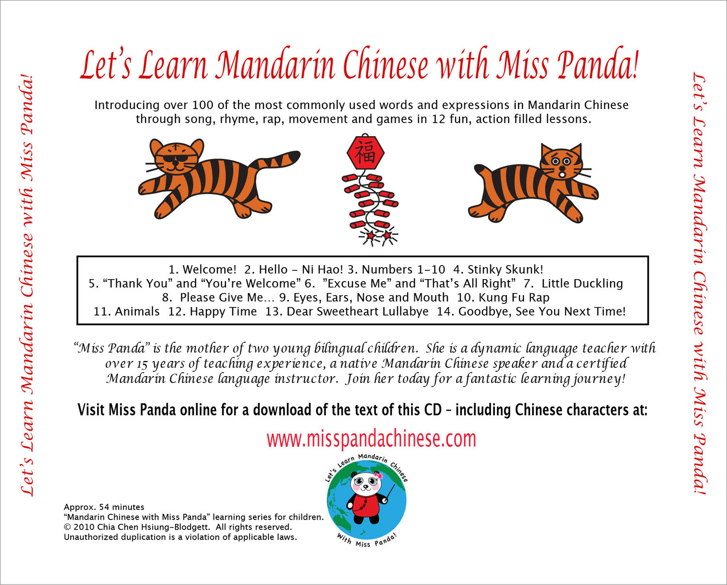 Miss panda cd miss panda chinese mandarin chinese for children introduce mandarin chinese biocorpaavc