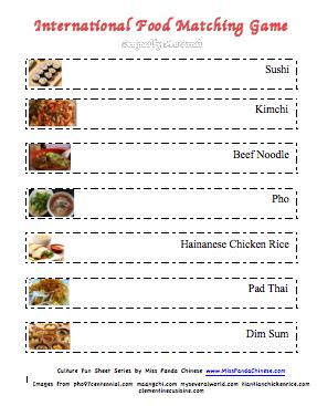 Miss Panda Chinese - Intl Food Matching Game