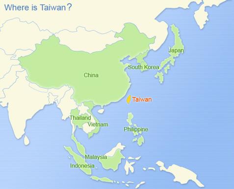 Miss Panda Chinese Location of Taiwan and China