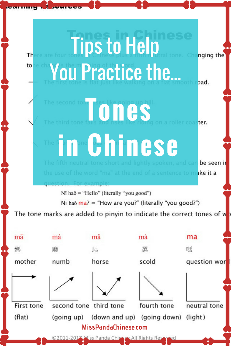 Chinese Toolbox: Tips to Help Your Practice the Tones in Chinese