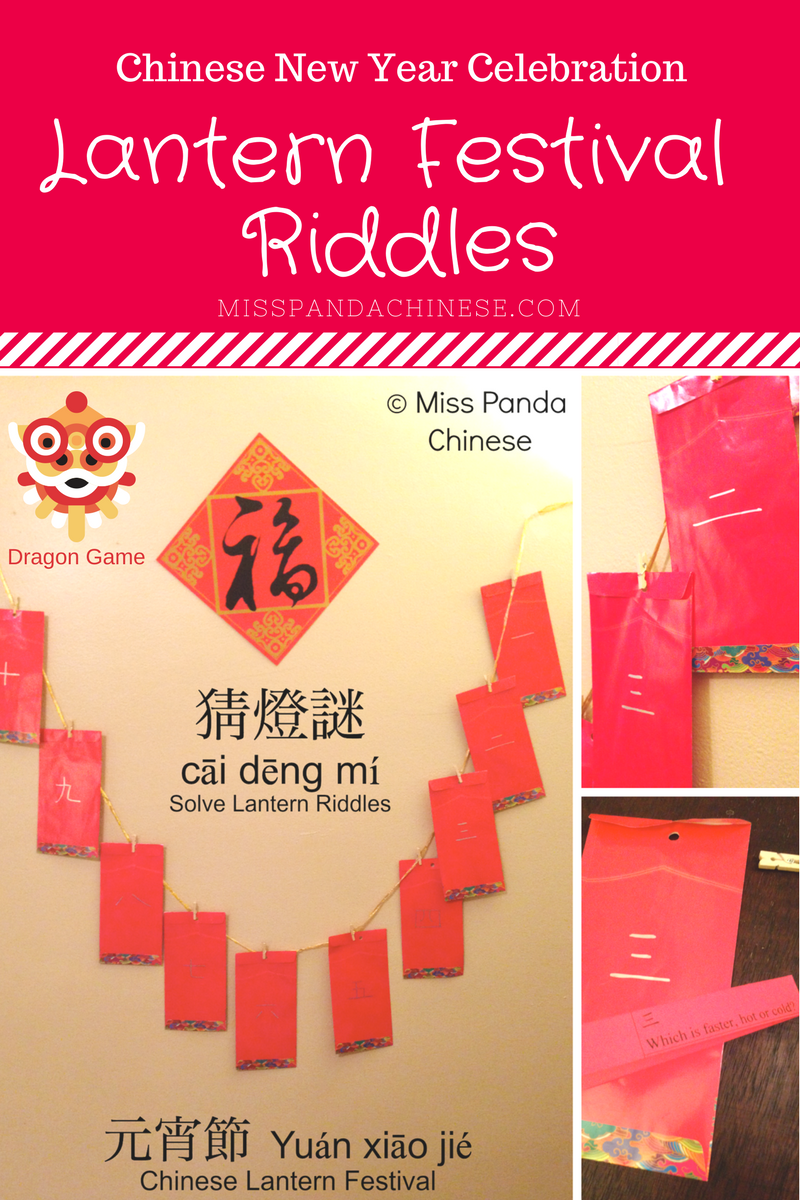 Chinese New Year Lantern Festival Riddles | Miss Panda Chinese